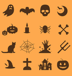 Halloween party icons set vector