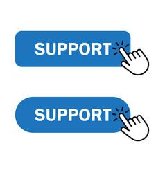 hand cursor clicks support button vector image