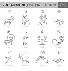 Hand drawn zodiacal signs in ink style vector