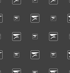 hang-gliding sign Seamless pattern on a gray vector image