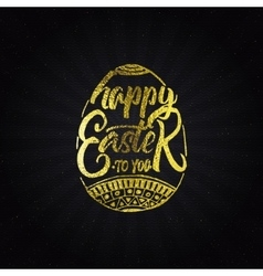 Happy easter - typographic calligraphic lettering vector image