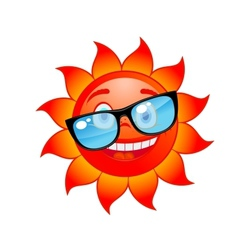 Happy sun in sunglasses vector image