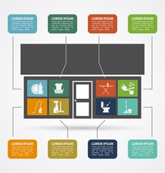 house work ifographic vector image