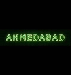 Inscription indian city ahmedabad vector