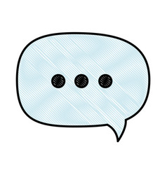 isolated ellipsis speech bubble vector image