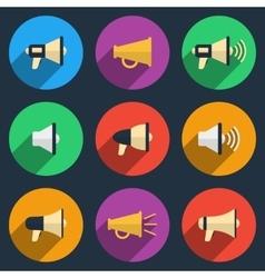 megaphone icons set vector image