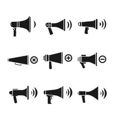 Megaphone loudspeaker audio speaker volume vector