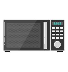Modern microwave icon flat microwave vector