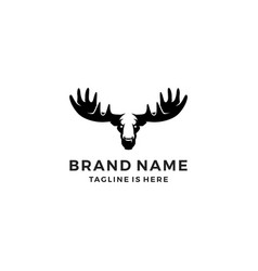Moose head logo template icon vector