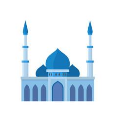 Mosque building blue color vector