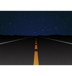 night road vector image