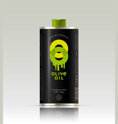 o double logo olive oil transparent packaging vector image