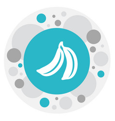 Of cooking symbol on banana vector