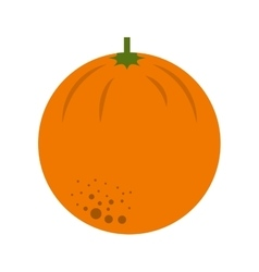 Orange citrus fruit isolated icon design vector