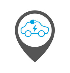 parking for charging electric cars geolocation vector image