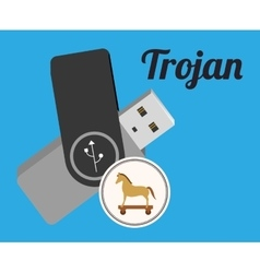 Pen drive design vector