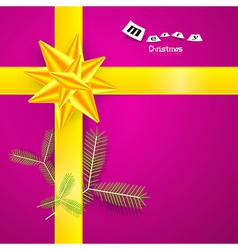 Pink and Yellow Abstract Merry Christmas vector image