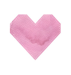 pink heart pattern shapes on white background vector image