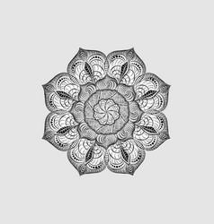 Radial cut-out paper pattern decorative mandala vector