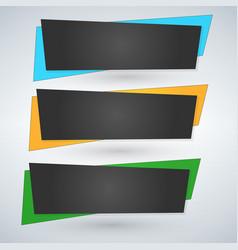 set of trendy flat geometric banners green blue vector image