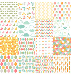 spring easter patterns seamless background vector image