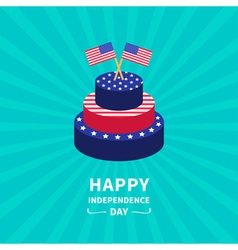 Starburst background Cake Independence day vector image