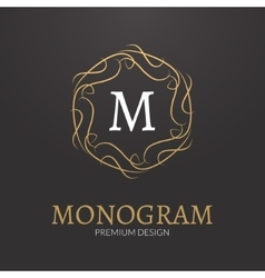 Stylish elegant monogram design logo vector