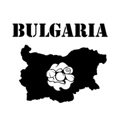 Symbol of bulgaria and map vector
