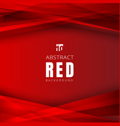 Template red shapes triangles overlapping with vector