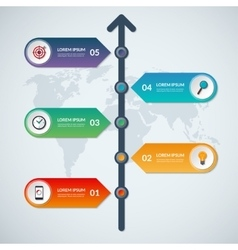 Timeline infographic arrow elements vector image