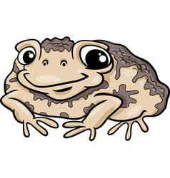 Toad amphibian cartoon vector