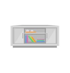 tv table interior design element vector image