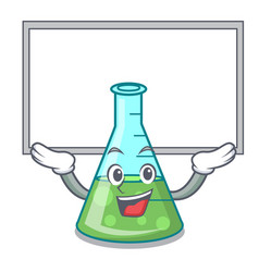 Up board science beaker character cartoon vector