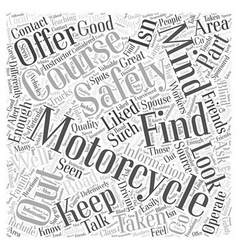 What to Look for in a Motorcycle Safety Course vector