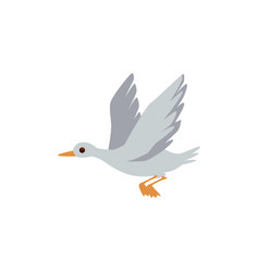 wild for hunting or home farm waterfowl grey goose vector image