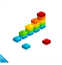3d graph icon vector image