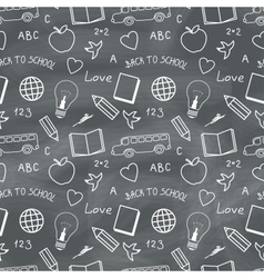 Back to School Chalkboard Pattern vector image