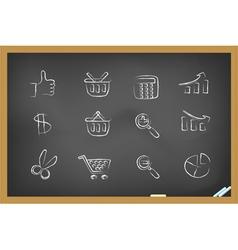 blackboard icons vector image vector image