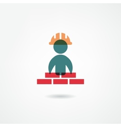 builder icon vector image vector image