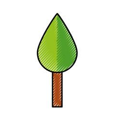 cute tree cartoon vector image vector image