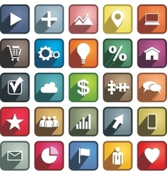 Set of different business icons vector image