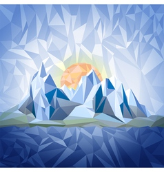 Stylized landscape with mountains vector image vector image