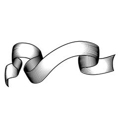 Vintage engraved banner vector image vector image