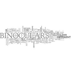 what would you use binoculars for text word cloud vector image vector image