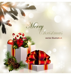 2013 11 024 Christmas composition on brilliant vector image vector image