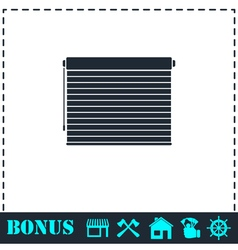 Blinds icon flat vector