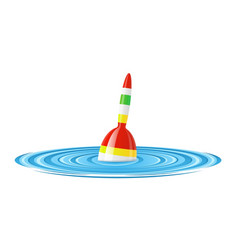 float for rod fishing in water vector image