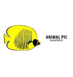 golden butterflyfish vector image