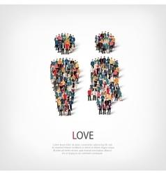 love people crowd vector image vector image