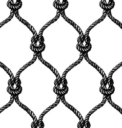 Rope seamless tied fishnet pattern vector image